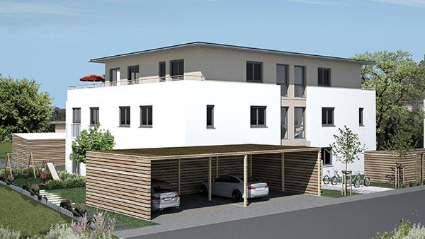 mehrfamilienhaus mit tiefgarage m aubing praml bau. Black Bedroom Furniture Sets. Home Design Ideas