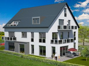 Praml Objektbau: Mehrfamilienhaus mit Eigentumswohnungen, Wüstensteiner Straße 15, München Aubing