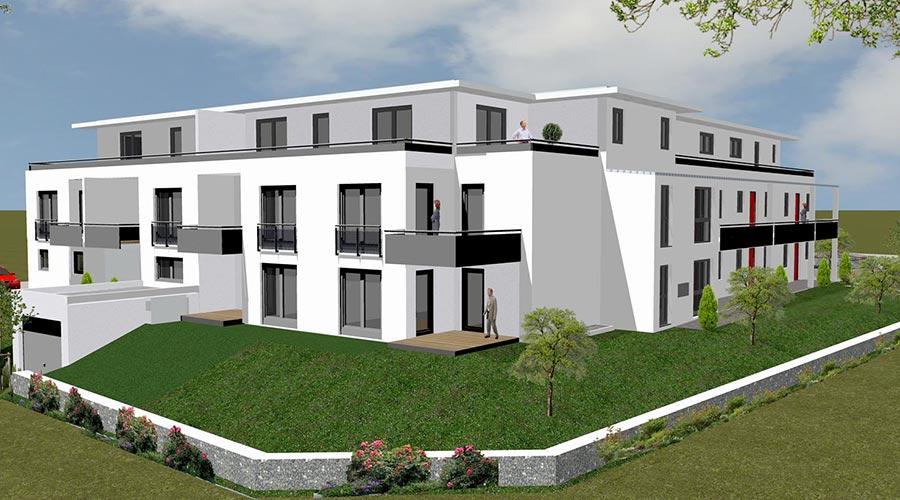mehrfamilienhaus mit 16 whg in metten praml bau. Black Bedroom Furniture Sets. Home Design Ideas