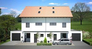 Doppelhaus im Baugebiet Stauffendorf / Deggendorf